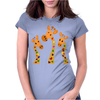Awesome Giraffes with Heart Spots Art Original Womens Fitted T-Shirt