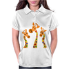 Awesome Giraffes with Heart Spots Art Original Womens Polo
