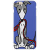 Awesome Gray and White Greyhound Dog with Leash Phone Case