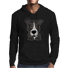 Awesome Gray Pitbull Puppy Dog Art Mens Hoodie