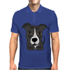 Awesome Gray Pitbull Puppy Dog Art Mens Polo