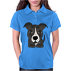 Awesome Gray Pitbull Puppy Dog Art Womens Polo