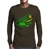Awesome Green Frog Abstract Art Mens Long Sleeve T-Shirt