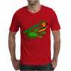 Awesome Green Frog Abstract Art Mens T-Shirt