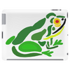 Awesome Green Frog Abstract Art Tablet