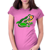 Awesome Green Frog Abstract Art Womens Fitted T-Shirt