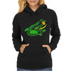 Awesome Green Frog Abstract Art Womens Hoodie