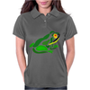 Awesome Green Frog Abstract Art Womens Polo