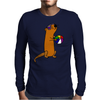 Awesome Humorous Sea Otter in Sunglasses with Beach Ball Mens Long Sleeve T-Shirt