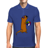 Awesome Humorous Sea Otter in Sunglasses with Beach Ball Mens Polo