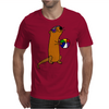 Awesome Humorous Sea Otter in Sunglasses with Beach Ball Mens T-Shirt