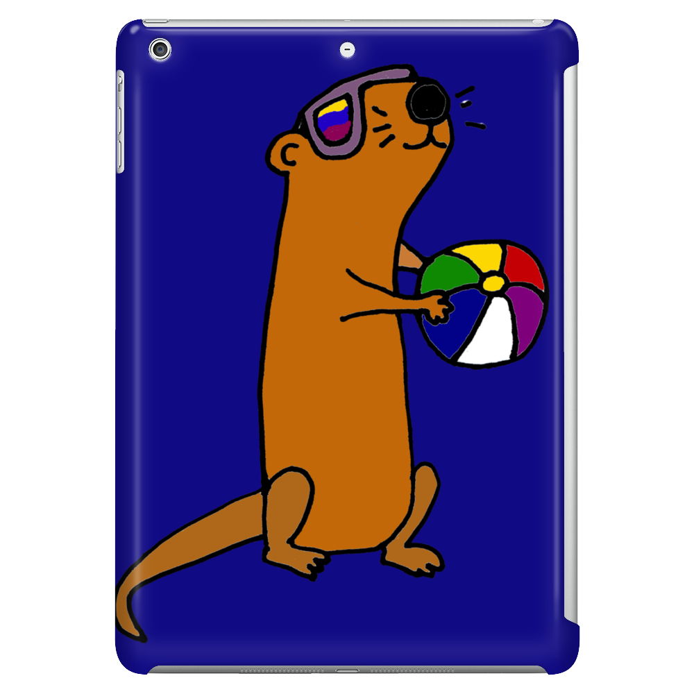 Awesome Humorous Sea Otter in Sunglasses with Beach Ball Tablet
