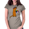 Awesome Humorous Sea Otter in Sunglasses with Beach Ball Womens Fitted T-Shirt