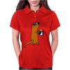 Awesome Humorous Sea Otter in Sunglasses with Beach Ball Womens Polo