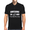 Awesome In Bed I can read for hours funny Mens Polo