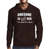 Awesome In Bed I can read for hours Mens Hoodie