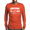 Awesome In Bed I can read for hours Mens Long Sleeve T-Shirt