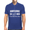 Awesome In Bed I can read for hours Mens Polo
