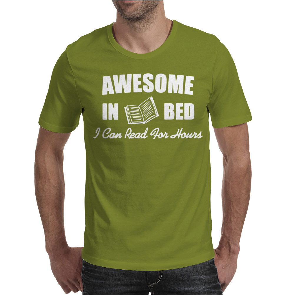 Awesome In Bed I can read for hours Mens T-Shirt