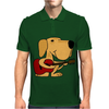 Awesome Labrador Retriever Dog Playing Guitar Mens Polo
