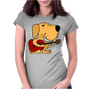 Awesome Labrador Retriever Dog Playing Guitar Womens Fitted T-Shirt