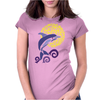 Awesome Leaping Dolphin in the Sunlight Womens Fitted T-Shirt