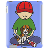 Awesome Little Boy Hugging Beagle Puppy Dog Tablet