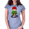 Awesome Little Boy Hugging Beagle Puppy Dog Womens Fitted T-Shirt