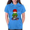 Awesome Little Boy Hugging Beagle Puppy Dog Womens Polo