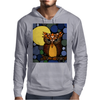 Awesome Owl and Moon Original Abstract Art Mens Hoodie