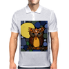 Awesome Owl and Moon Original Abstract Art Mens Polo