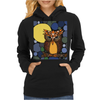 Awesome Owl and Moon Original Abstract Art Womens Hoodie