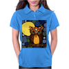 Awesome Owl and Moon Original Abstract Art Womens Polo