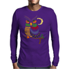 Awesome Owl Art Abstract Mens Long Sleeve T-Shirt