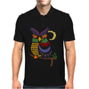 Awesome Owl Art Abstract Mens Polo