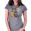 Awesome Owl Art Abstract Womens Fitted T-Shirt