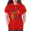 Awesome Owl Art Abstract Womens Polo