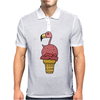 Awesome Pink Flamingo in Ice Cream Cone Mens Polo
