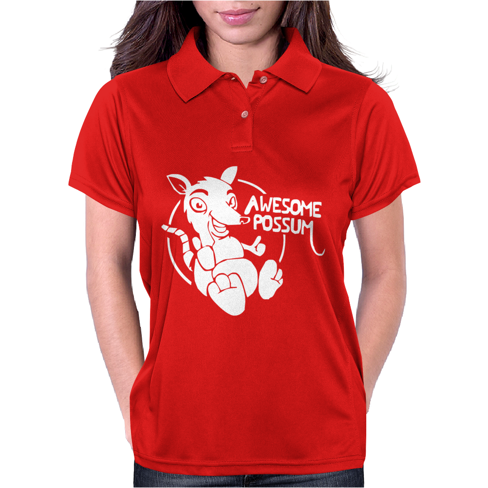 Awesome Possum Womens Polo