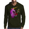 Awesome Purple Unicorn Playing Saxophone Artwork Mens Hoodie