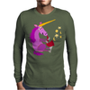 Awesome Purple Unicorn Playing Saxophone Artwork Mens Long Sleeve T-Shirt