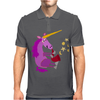 Awesome Purple Unicorn Playing Saxophone Artwork Mens Polo