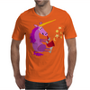 Awesome Purple Unicorn Playing Saxophone Artwork Mens T-Shirt
