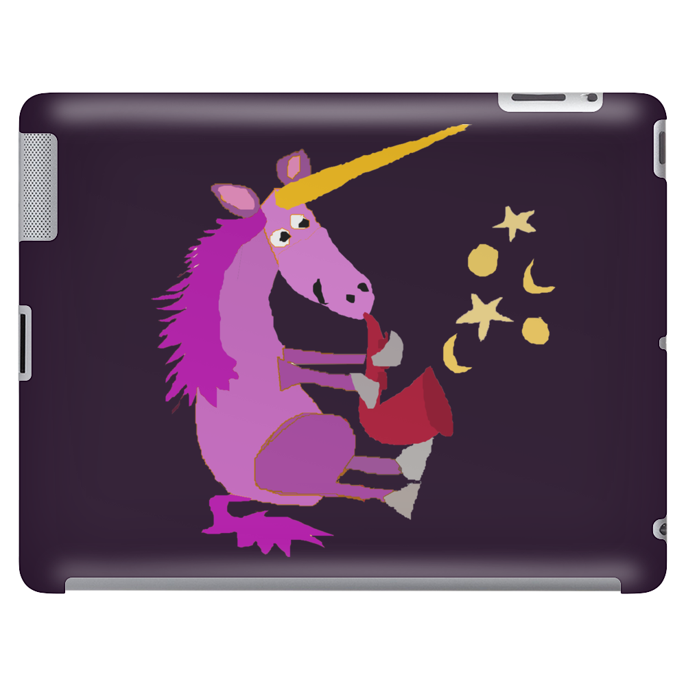 Awesome Purple Unicorn Playing Saxophone Artwork Tablet