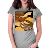 Awesome Racing Greyhound Dog Abstract Art Original Womens Fitted T-Shirt