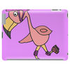 Awesome Rollerblading Pink Flamingo Bird Tablet
