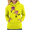 Awesome Rollerblading Pink Flamingo Bird Womens Hoodie