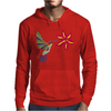 Awesome Ruby-Throated Hummingbird Abstract Art Mens Hoodie