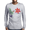 Awesome Ruby-Throated Hummingbird Abstract Art Mens Long Sleeve T-Shirt