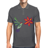 Awesome Ruby-Throated Hummingbird Abstract Art Mens Polo